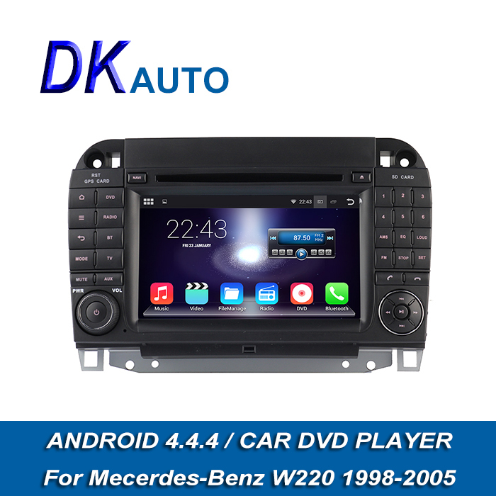 "New Arrival Car Stereo For Mercedes Benz S Class W220 1998-2005 Pure Android 2 Din 7"" HD 1024*600 GPS Navi Wifi Music Video DVBT(China (Mainland))"
