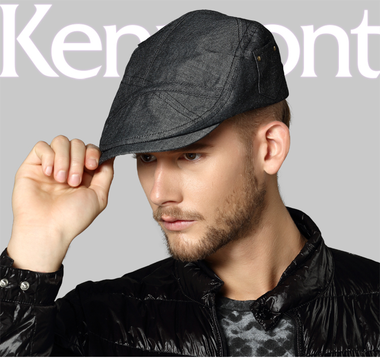 Wholesale Price Cap Visors Caps Kenmont Hats Men Autumn Winter Black Blue Hats 100% Cotton Cabbie Cap Newsboy Hat E-2260(China (Mainland))