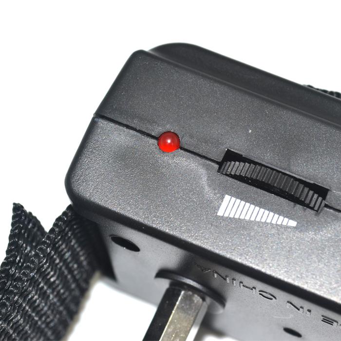 Adjustable sensitivity acoustic stop barking bark terminator,anti barking dog collor,shock+tone, electronic bark control black(China (Mainland))