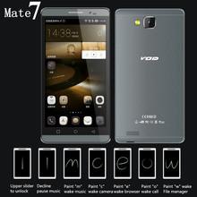Original Phone Mate 7 5.5 inch IPS Screen 1280X720P MTK6592 Octa Core Dual SIM Card 1.7GHz camere 13.0MP GPS GSM WCDMA Cellphone