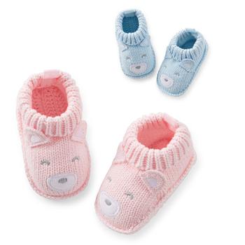 Recem nascido вязание девочка мальчик возчиков кроссовки мокасины мягкие милые туфли первые ботинки ходока сопротивление дети обувь