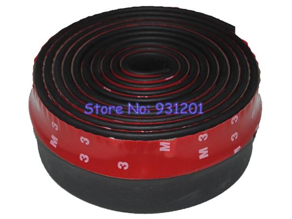 2.5M Length 6.5CM Width TPVC HCDistribution Lip Skirt Protector Car Scratch Resistant Rubber Bumpers Car Front Lip Bumpers()