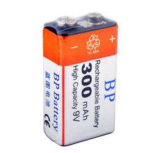 1 PCS BP 9V 9 Volt Ni-MH Rechargeable Battery 300mAh MBIC #2989(China (Mainland))