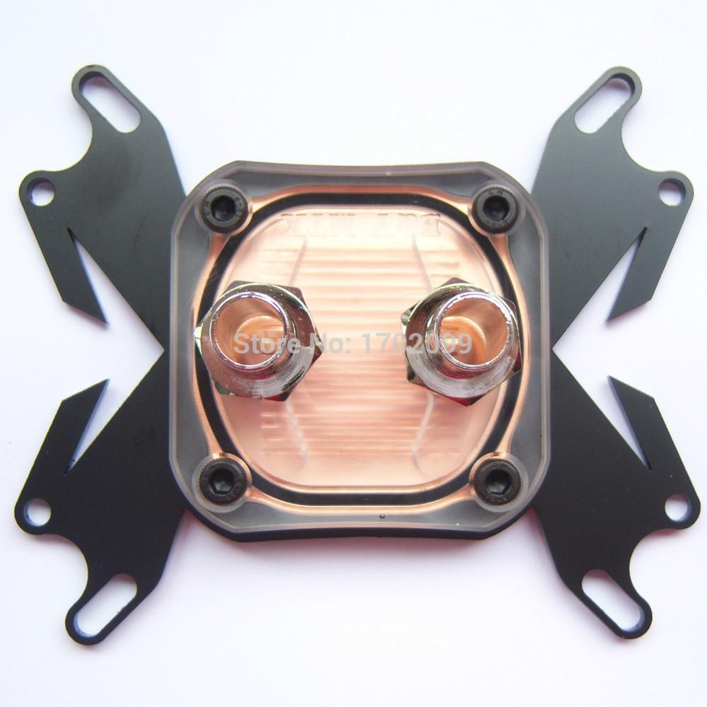 Cpu água de resfriamento bloco de cobre base de Waterblock líquido refrigerador para Intel / AMD(China (Mainland))