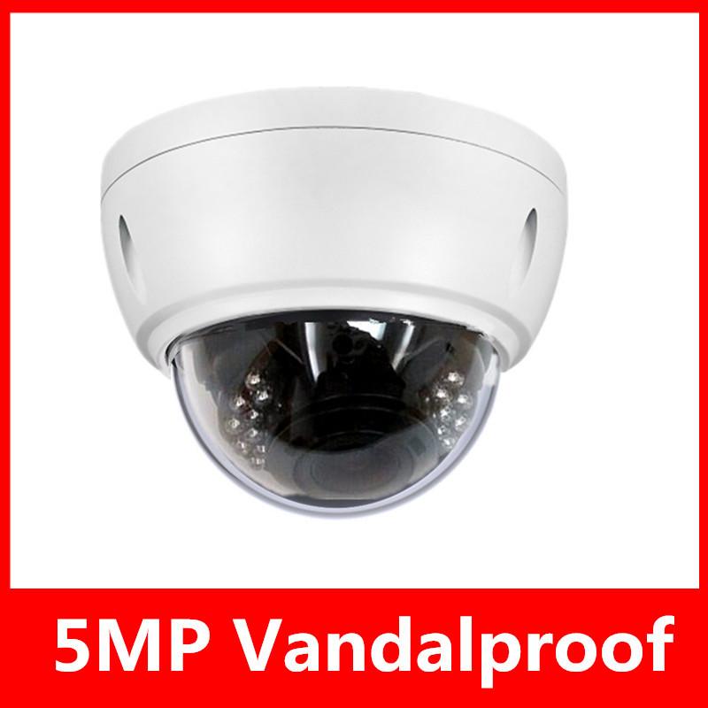 5.0 Megapixel 2592*1920 Security IP Vandalproof Dome Camera 4/6/8/mm Lens H.264 IR ONVIF POE Optional Camera/Support Dahua(China (Mainland))