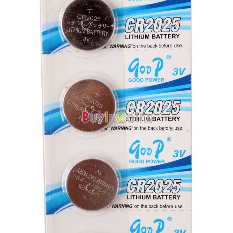 Аккумулятор таблеточного типа OEM 5 CR2025 CR 2025 3V li/ion ECOS #54884 tmmq 3v li ion cr2025 batteries silver 5 pcs