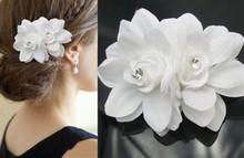 New Rose Flower Crystal Hair Pins Wedding Bridal hair Accessory Bridesmaid