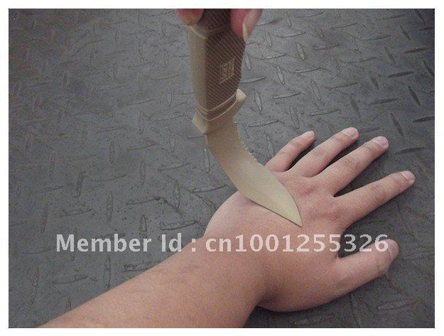 Free Shipping  2012 New Plastic Knife TMC Dummy M37 K Seal Pup Knife DE