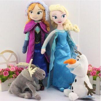 4 шт./компл. плюшевые куклы мягкие игрушки 40 см принцесса эльза и анна Brinquedos 20 см снеговик олаф и свен плюшевые игрушки для детей подарок