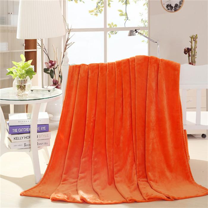 Spring Summer Autumn Winter Blanket Yellow Throw Blanket Orange Throw Blanket(China (Mainland))