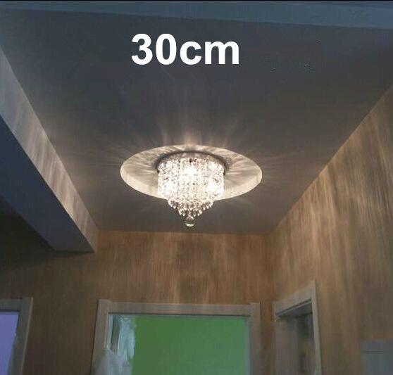 DHL Freeship 2pcs 3W/6W/9W/15W/18W/30W modern ceiling light led crystal living room hallway lights led lamp for home decoration(China (Mainland))