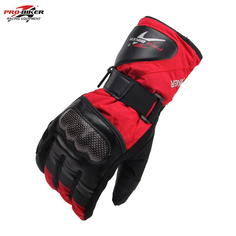 PRO-BIKER Windproof Waterproof Thermal Gloves Luvas Ski Snowmobile Gloves Winter Motorcycle Racing Riding Gloves(China (Mainland))