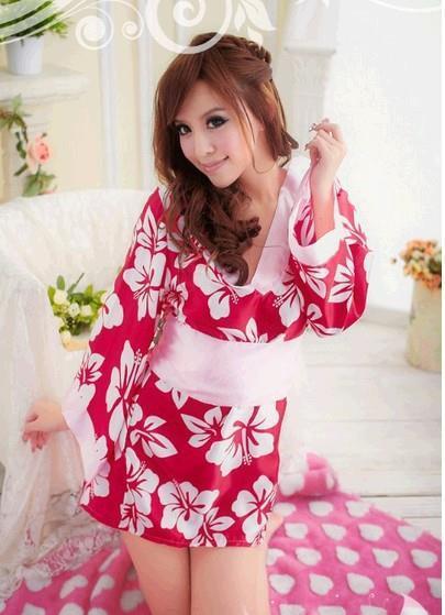 sexy lingerie Japanese Cherry Blossom kimono kimono improved taste high quality Home Furnishing clothing(China (Mainland))