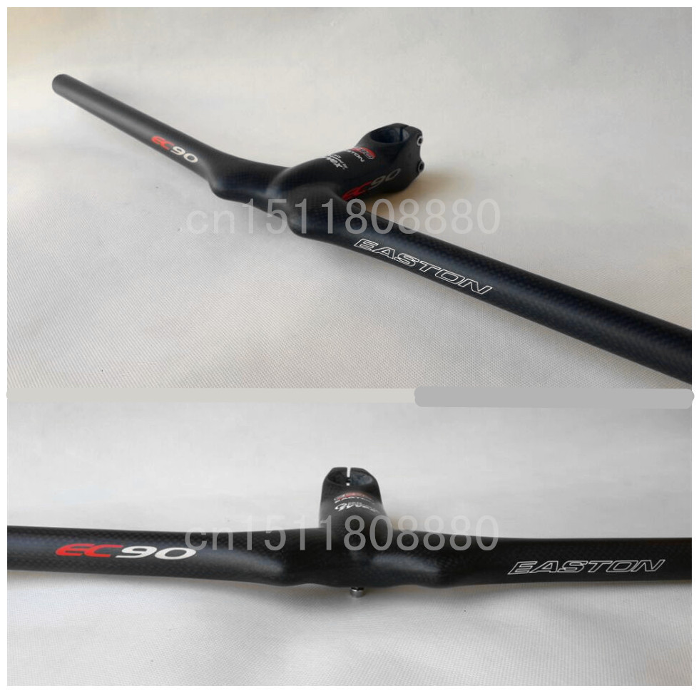 New EC90 carbon MTB bicycle Handlebar and stem / mountain bike integrated Handlebar bicycle accessories free shipping(China (Mainland))