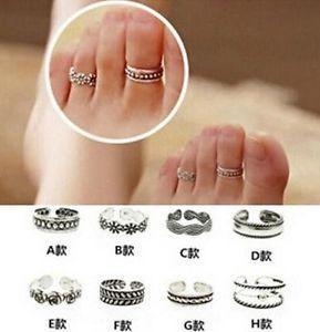 New 2015 New Celebrity Simple Retro Flower Design Adjustable Toe Ring Foot Jewelry(China (Mainland))
