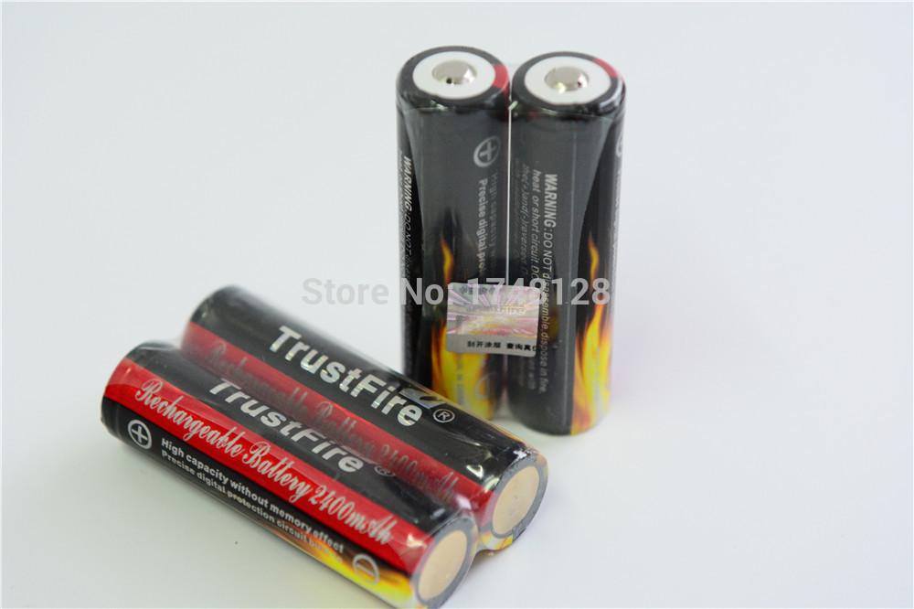 High quality! 4pcs/lot 3.7V 2400mAh Original Trustfire18650 rechargeableAutomatic li-ion Battery Plus board(China (Mainland))