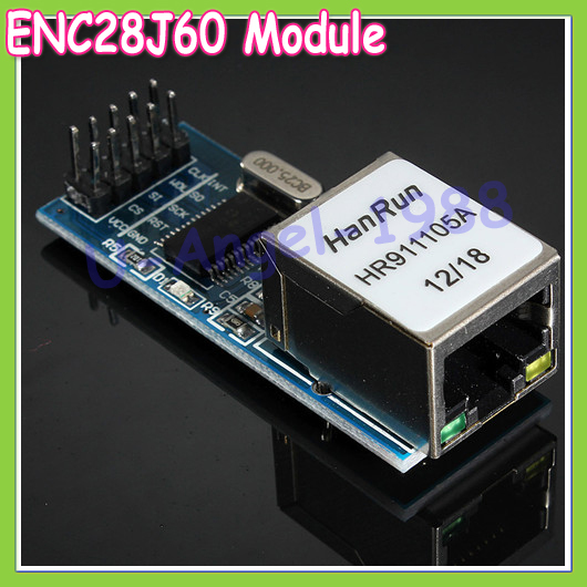 Wholesale 5pcs/lot New ENC28J60 Ethernet LAN Network SPI Port Module 51/AVR/ARM/PIC Code Drop shipping(China (Mainland))