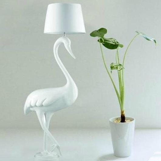 Swan creative resin lamp floor lamp floor lamp bedroom dining living room floor lamp lighting white swan(China (Mainland))