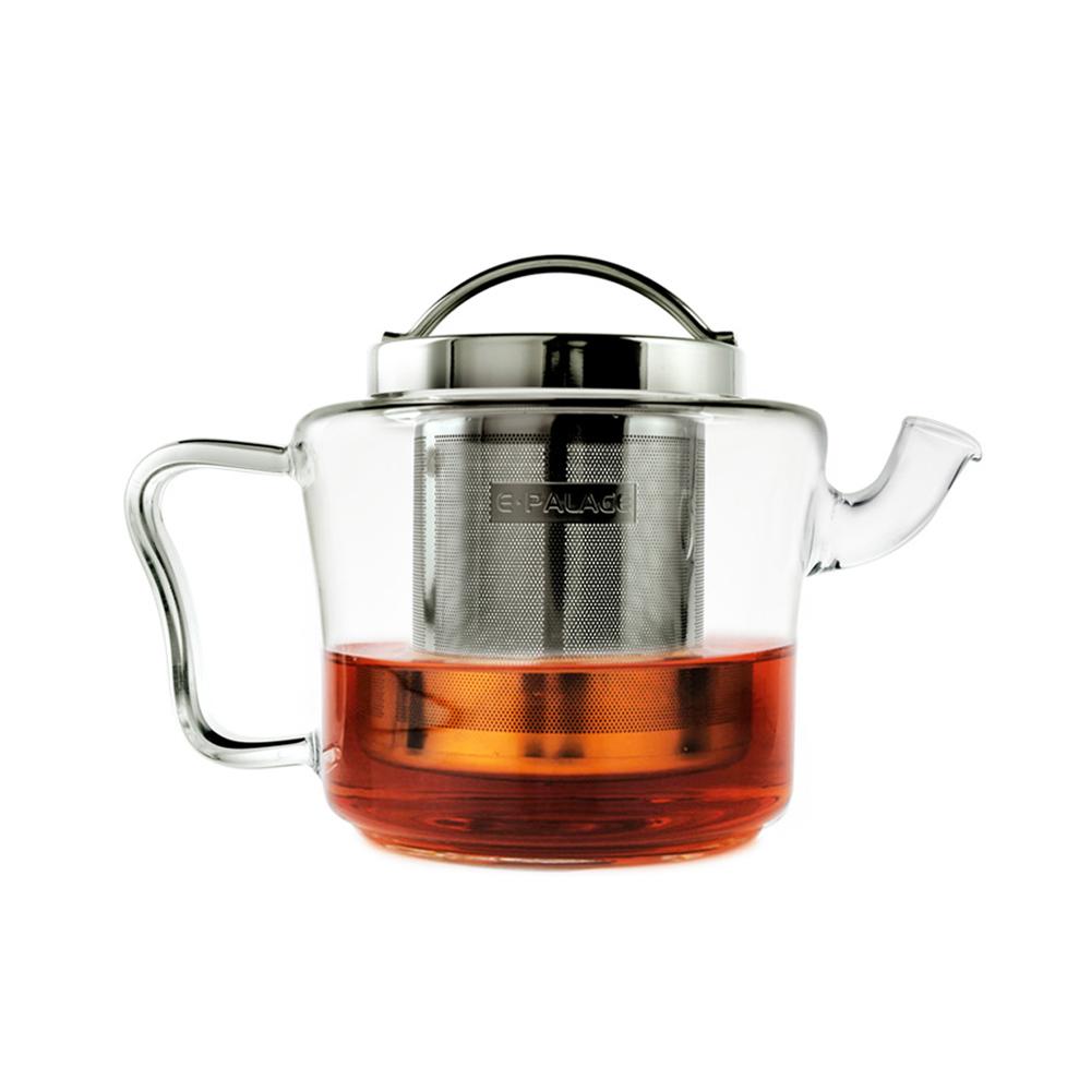 Best Sale!!! Promotion 500MLClear Glass Tea Pot E PALACE New Arrival Flower Teapot Heat Resistant G34004 Kettle SS Filter&Lid(China (Mainland))