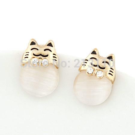 Мода ювелирных изделий животных кошка элегантная кошка серьгу мода женщин аксессуары мило серьгу ювелирных изделий