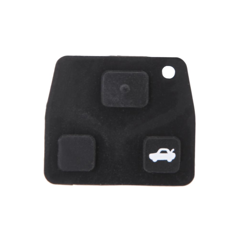 2 Button Uncut Blade Remote Car Key Pad DIY Repair Kit Rubber Battery 2016 Switch for Toyota Avensis Keyless Key Push pad(China (Mainland))