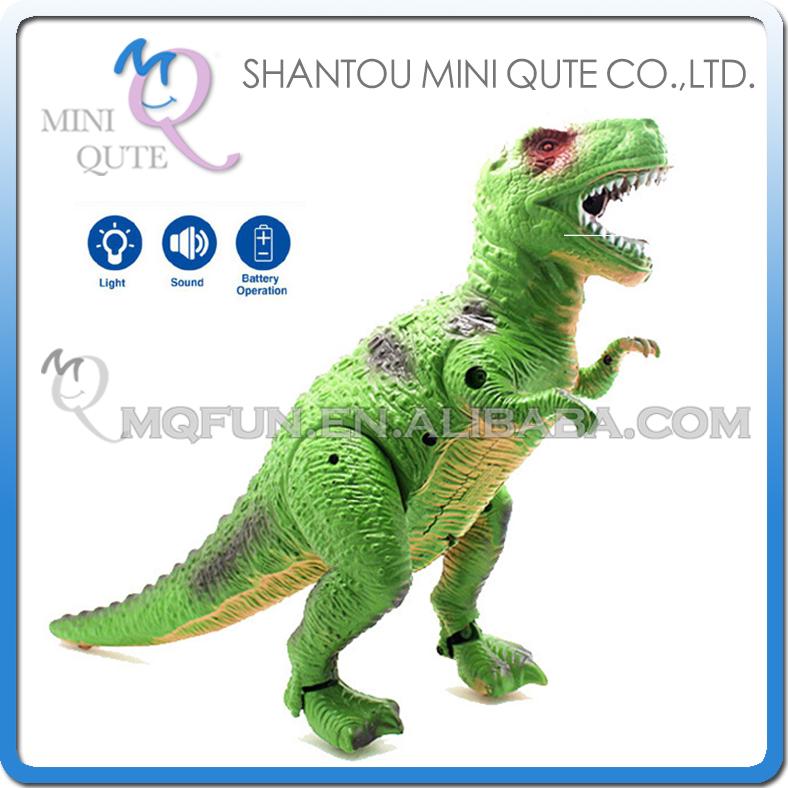Mini Qute 30 cm plastic Godzilla Jurassic Park robot sound flash walk electronic dragon Dinosaur Tyrannosaurus model toy NO.1009(China (Mainland))
