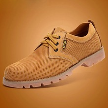 New Spring Men Genuine Leather Scrub Tooling Ankle Boots Work Shoes Men Sneakers Shoes Men Breathable