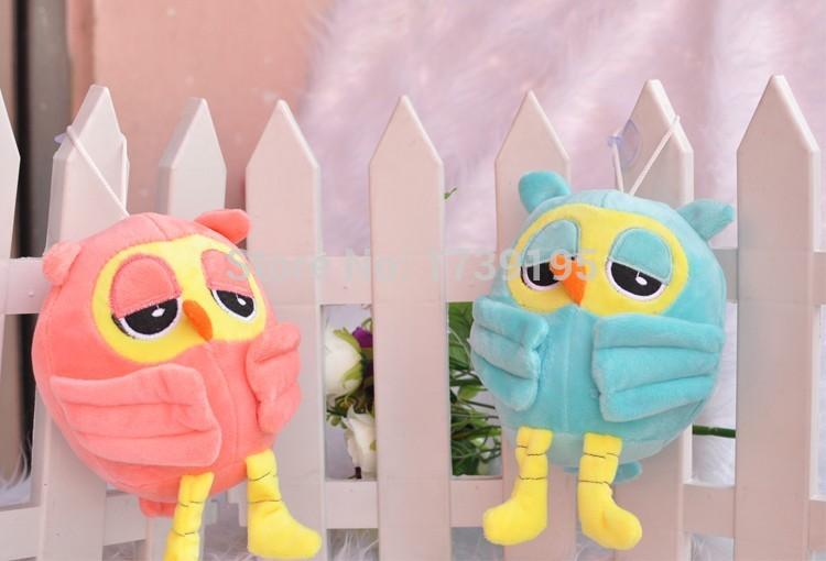 free shipping hot saling 1lot 2pcs big eye 20 cm high owl plush toys super soft toys for kids or baby(China (Mainland))