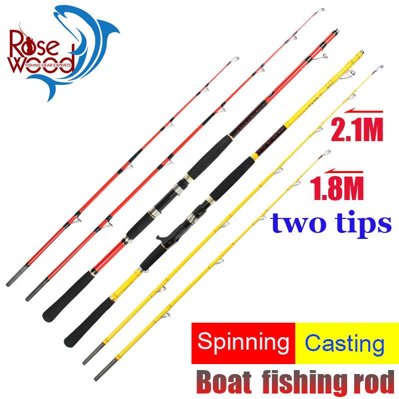 2015 New jigging rod boat fishing trolling rod 1.8/2.1m two tips casting spinning fishing jig rod boat trolling carbon rods pole(China (Mainland))