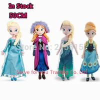 "Free Shipping 50CM Elsa doll Anna Plush Doll Toys 19.7"" big size Princess Stuffed Brinquedos Kids Birthday Valentine Day Gift"