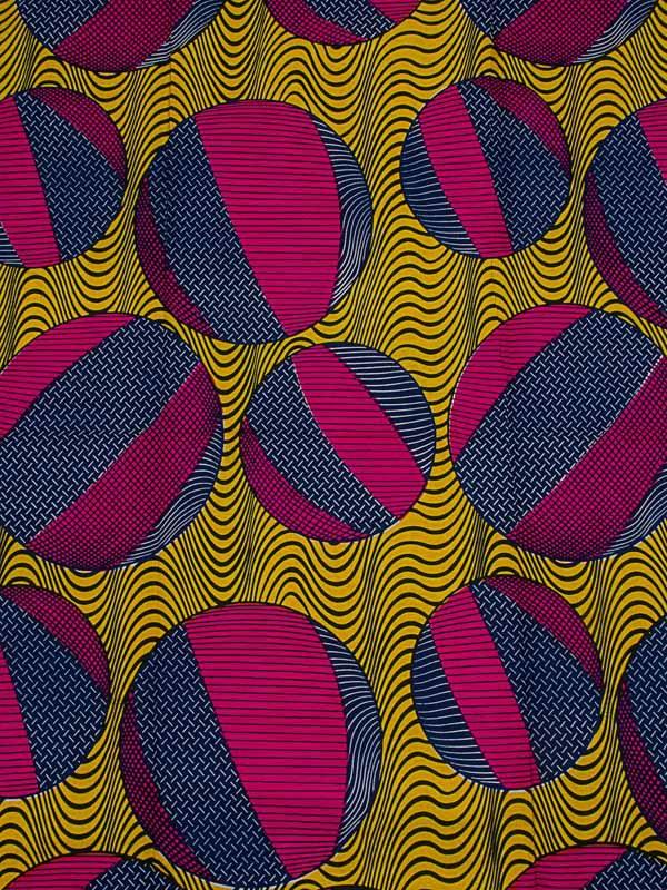 Wholesale Real Wax Fabric Dashiki Fuschia Ball Pattern 100% Cotton Party rw492107(China (Mainland))