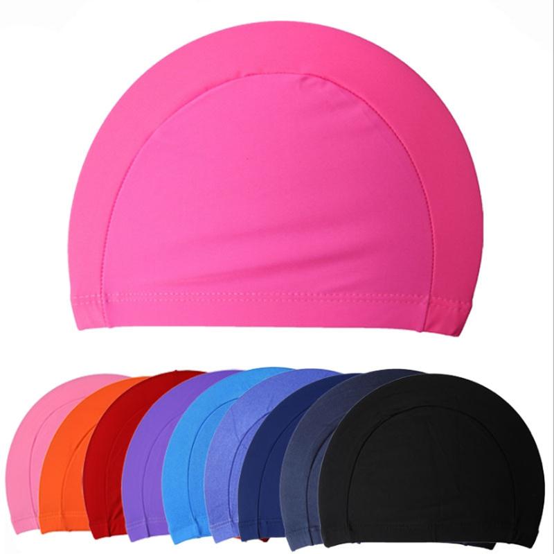 Free Size Fabric Protect Ears Long Hair Sports Siwm Pool Swimming Cap Hat Adults Men Women Sporty Ultrathin Adult Bathing Caps(China (Mainland))