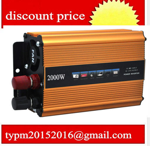 cat inverter Modified sine wave inverter 2000W, mini car inverter 12V to 220V free shipping(China (Mainland))