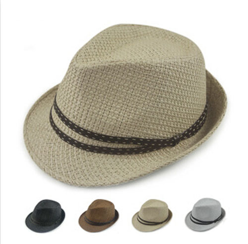 Wholesale Designer Mens Solid Colors Paper Fedoras Hats Women Summer Fedoras Caps Men Fashion Sun Straw Cap Womens Straw Hat(China (Mainland))