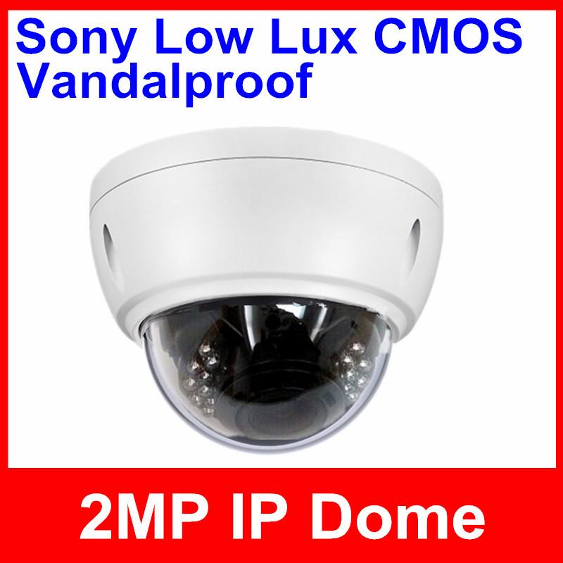 Security CCTV IP 2 Megapixel Sony CMOS 1920*1080 4/6/8mm Lens H.264 IR Vandalrproof ONVIF POE Optional Camera/Support Dahua(China (Mainland))