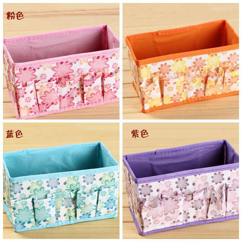 Office desktop cosmetics private storage box cosmetic box jewelry box small objects debris bucket(China (Mainland))