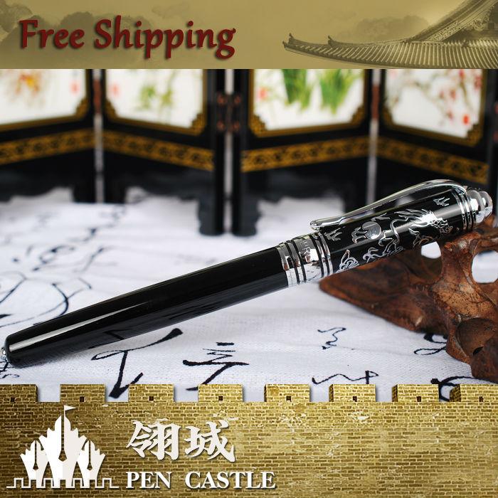 HERO 2025EP Chinese Dragon Roller Ball Pen Bare Nib Executive Gift Free Shipping(China (Mainland))
