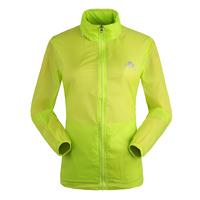 2015 New Women Ultra-light Outdoor Waterproof Camping Shirt UV Protection Quick Dry  Long Sleeve Skin Jacket Jogging Rain Coat
