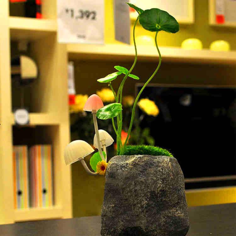 free shipping hot selling Avatar mushroom lamp (resin version) mushroom light control Nightlight(China (Mainland))