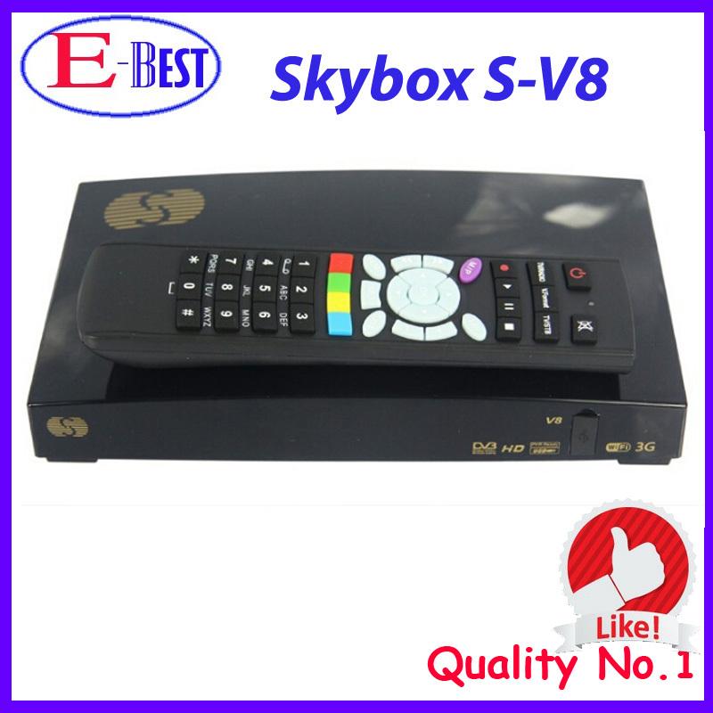 2015 Original Skybox V8 Satellite Receiver Support WebTV CCcam Newcamd Set Top Box DVB-S2 Full HD 1080P MPEG-5 Skybox v8s(China (Mainland))