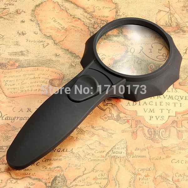 Best Promotion New LED Light HandHeld Illuminated pocket Reading Magnifier Loupe Glass Lens Best Promotion (China (Mainland))