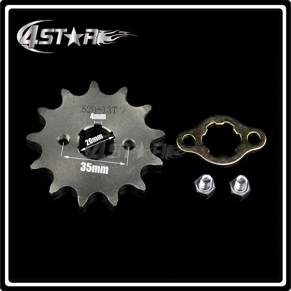Звездочка для мотоциклов 4 star 13T 520# 520 ATV звездочка для мотоциклов oem 26 25h 68 47cc 49 minimoto goped mini atv