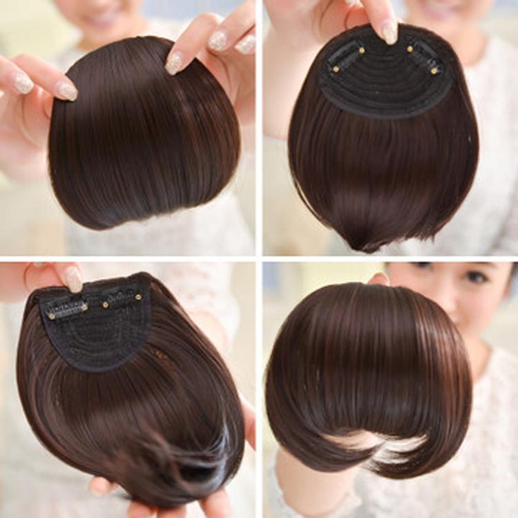 New Fashion Front Neat Bangs Hair Bangs Extension Clip In Hair Bangs Synthetic Hair Fringe 4 Colors Drop Shipping Hair-0005(China (Mainland))