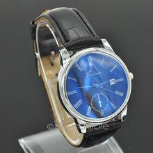 Men s Fashion Casual PU Leather Band Quartz Analog Wrist Watch B MPJ710 A5