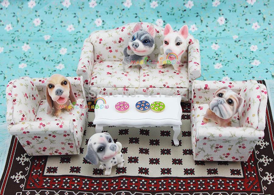 Acheter 3 x salon divan meubles canap fleur dollhouse miniature 1 12 chelle de for Acheter un divan