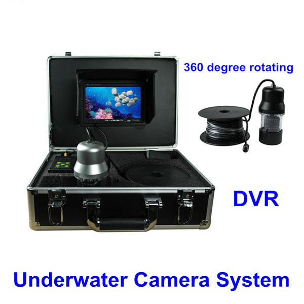 "600TVL Underwater Fishing Camera Fish Finder 7"" TFT LCD Monitor 20M Cable 14 pcs White LED Rotate 360 Degree(China (Mainland))"