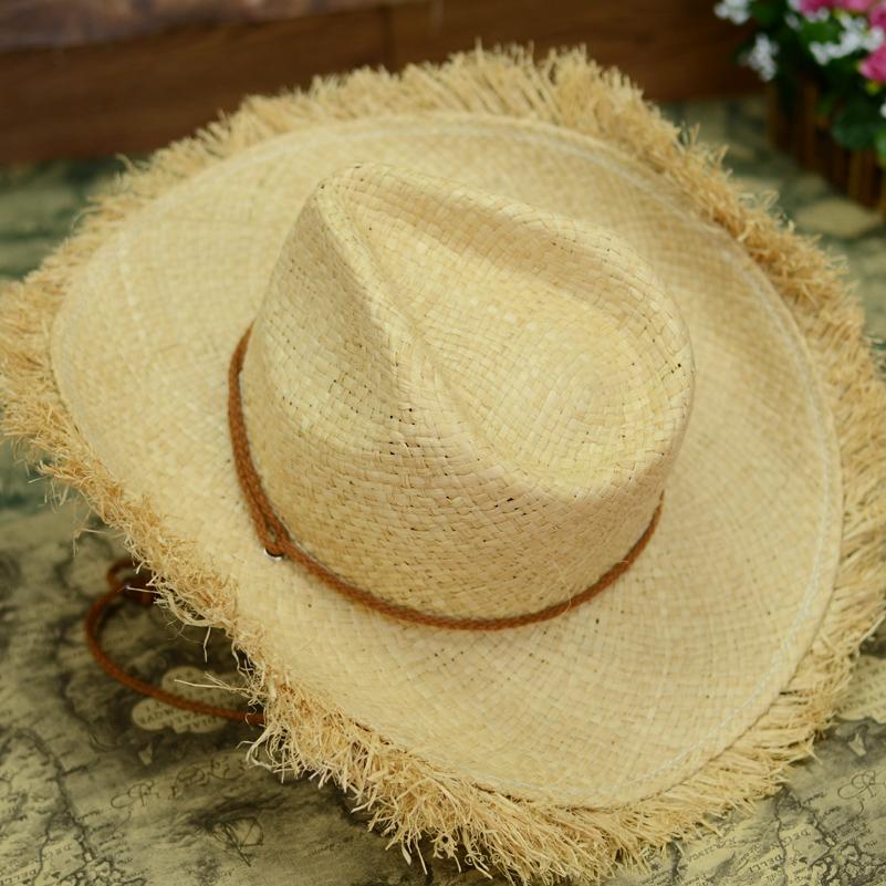 Straw Beach Hats For Men Raffia Straw Hats For Men