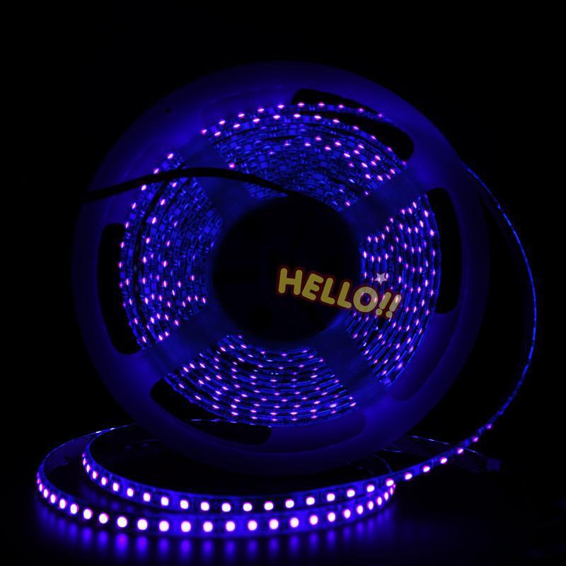 1~5M 5M 3528 UV DC12V 600 120LEDs/m 395-400NM UV LED Strip Light Warranty for 2 years(China (Mainland))