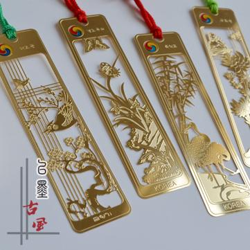 24K gold plated metal bookmark * [meilanzhuju] exports South Korea original bookmark Jiapin gifts(China (Mainland))