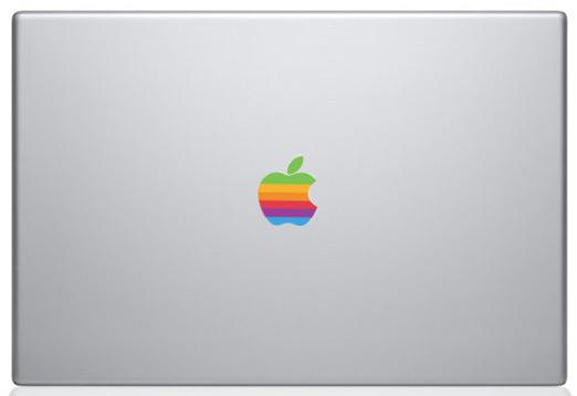 Apple Rainbow Logo Sticker 10pc/lot Rainbow Logo Sticker